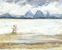 fishing at bribie island by phyllis paulina waterhouse