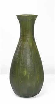 monumental vase by grueby