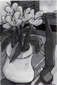 fiori e bottiglia by francesco prayer