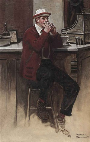 keeping his course exeter grill by norman rockwell