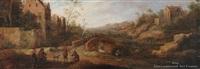 village scene by joost cornelisz droochsloot