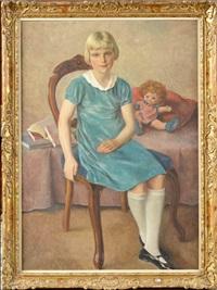 fillette à la poupée by louis buisseret