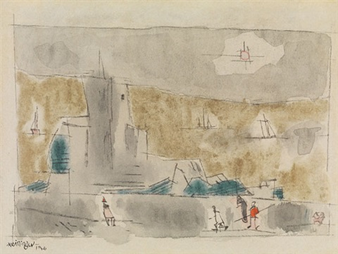 am meer by the sea by lyonel feininger