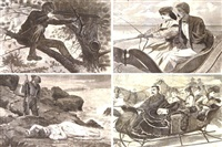 the great russian ball at the academy of music (+ 42 others; 43 works from harper's weekly) by winslow homer