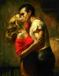 embracing couple by jack faragasso