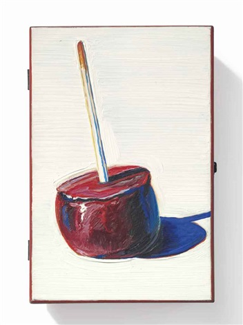candy apple cigar box by wayne thiebaud