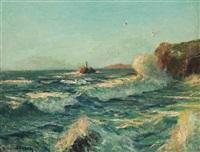 godrevy lighthouse, st. ives by julius olsson