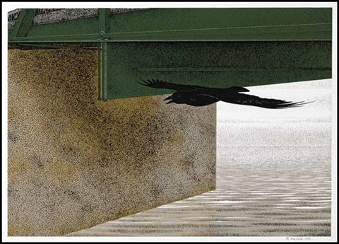 bridge and raven by david alexander colville