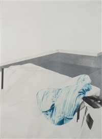 couette bleue by wolfgang gaefgen