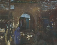 le souk de marrakech by jacques majorelle