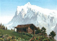 wetterton, vue de grindelwald by jacques charles fourcy