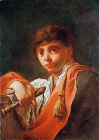 fiatal férfi furulyával by domenico maggiotto