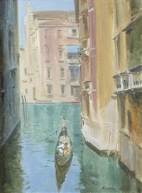 venice, little canal by norman hepple