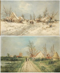 hameau en hiver by jean hill