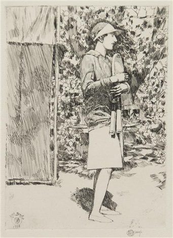 helen wills at east hampton no 1 by childe hassam