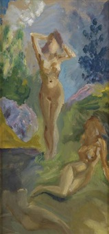 two studies of nudes (2 works) by e.e. cummings