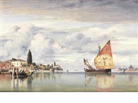 part of the island of san pietro, castello, venice by edward william cooke