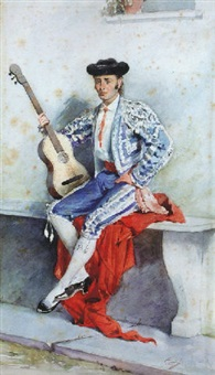 torero con guitarra by francisco sans y cabot