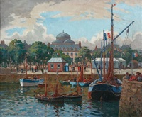 fishing port france by charles david jones bryant