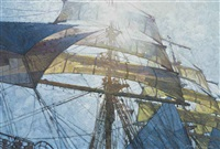 sunlight through the rigging by michael vaughan