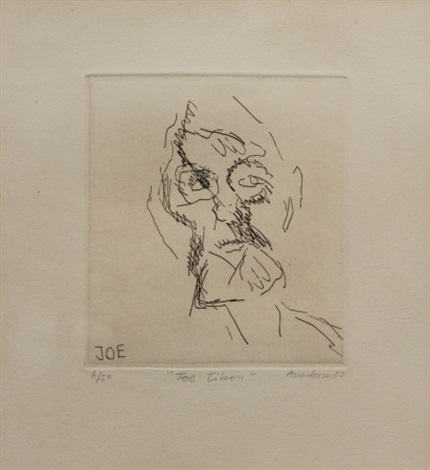 joe tilson from six etchings of heads by frank auerbach