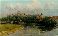 windsor from the thames by samuel warburton
