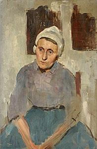 holländsk fiskarkvinna by richard (sven r.) bergh