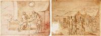 esau selling his birthright to jacob by bernard (le petit bernard) salomon