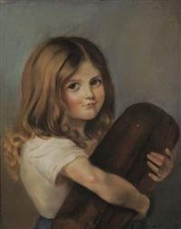 fillette russe à la miche de pain by ivan semionovich kulikov