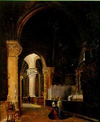 intérieur de l'église saint-maclou à pontoise by paul martin