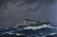 steam ship canberra by john allcott