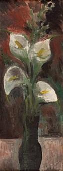 blumenstrauß in vase by josef fischnaller