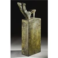 stele con figure gemminile seduta by mario negri