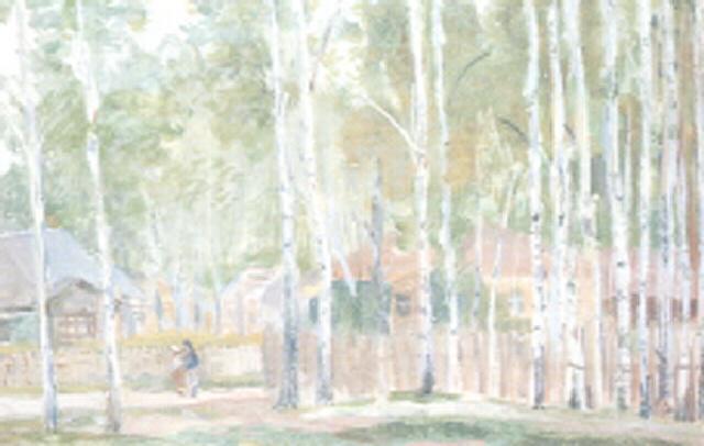 landscape with birches by meier akselrod
