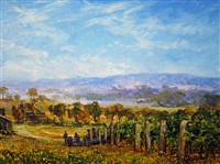 view north of ribbonvale vineyard by ken rasmussen