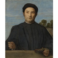 portrait of a jeweler, giovanni pietro crivelli (?) by lorenzo lotto