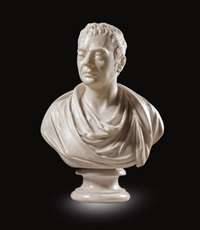 bust of a man by lewis alexander goblet