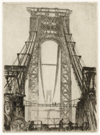 george washington bridge (+ the riveters; 2 works) by otto august kuhler