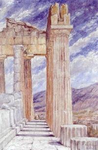 akropolis in athen by margarethe loewe-bethe