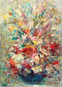 blumen in vase by otmar antonio janecek