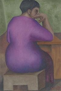 mujer sentada by ignacio aguirre