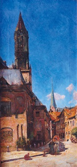 petri and jacobi church in hamburg by dietrich leonidas kooreman