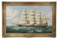 portrait of british four mast barque