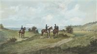 cavaliers au bord de mer by jonny audy