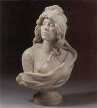 vendeta, bust of a woman by honoré icard
