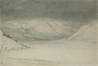 view of the alps in the vicinity of chamonix by john ruskin