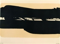 lithographie 39 by pierre soulages