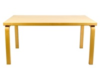 rectangular table 82a - l-leg by alvar aalto
