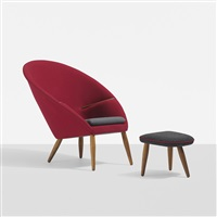 lounge chair and ottoman by nanna and jørgen ditzel