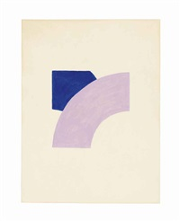 painting with purple & blue by richard tuttle